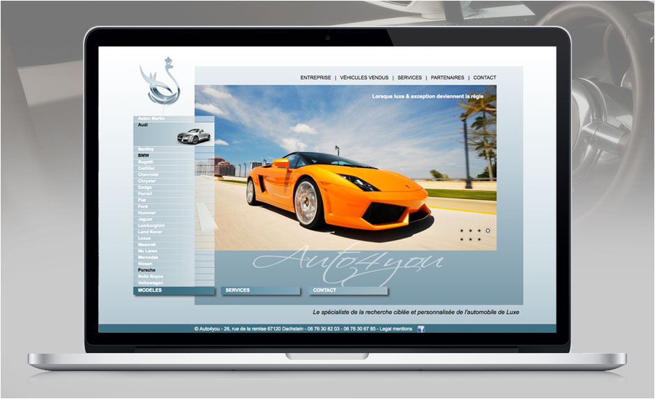 Design Web - Auto4you.fr